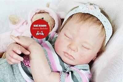 Bebê Reborn Menina Detalhes Reais Um Amor De Bebê Acompanha Lindo Enxoval E Chupeta