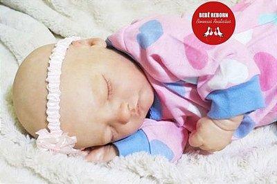 Boneca Bebê Reborn Menina Bebê Quase Real Super Fofa E Realista Com Lindo Enxoval E Chupeta