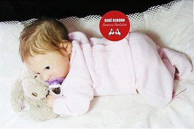Boneca Bebê Reborn Menina Realista Bonita E Graciosa Acompanha Lindo Enxoval E Acessórios