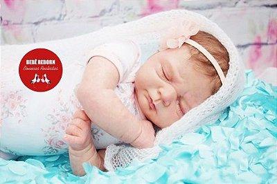Boneca Bebê Reborn Menina Bebê Quase Real Super Fofa E Realista Acompanha Lindo Enxoval