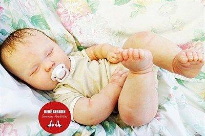Bebê Reborn Menino Bebê Quase Real Modelo Criança Grande Toddler Com Lindo Enxoval E Chupeta
