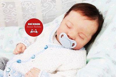 Bebê Reborn Menino Detalhes Reais Bebê Luxuoso Com Enxoval Completo E Chupeta Lindíssimo