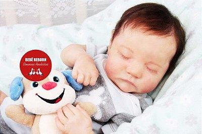 Bebê Reborn Menino Bebê Quase Real Recém Nascido Fofo E Encantador Acompanha Enxoval