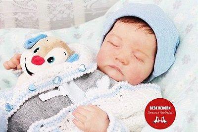 Bebê Reborn Menino Detalhes Reais Anjo Perfeito E Maravilhoso Com Lindo Enxoval E Chupeta