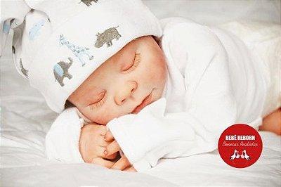 Bebê Reborn Menino Realista Parece Um Bebê De Verdade Bonito E Encantador Com 40 Cm