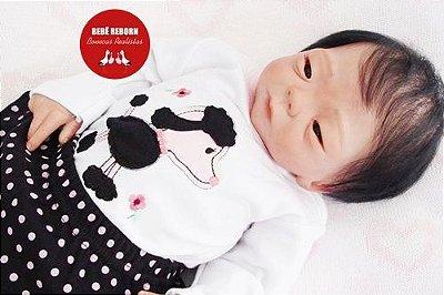 Boneca Reborn Menina Super Realista Princesinha Oriental Sofisticada Com Enxoval E Chupeta