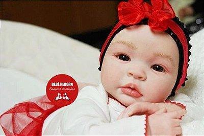 Boneca Bebê Reborn Menina Realista Bebê Quase Real Bonita E Graciosa Com Enxoval E Chupeta