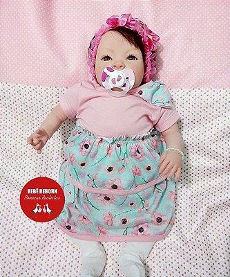 Boneca Bebê Reborn Menina Detalhes Reais De Um Bebê De Verdade Lindíssima E Sofisticada
