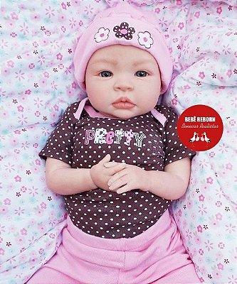 Boneca Bebê Reborn Menina Realista Bebê Super Fofa Recém Nascida Acompanha Lindo Enxoval