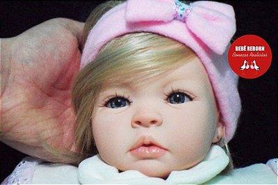 Bebê Reborn Menina Realista Loirinha Com Olhos Azuis Linda E Perfeita Acompanha Enxoval E Chupeta