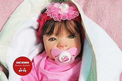 Boneca Bebê Reborn Menina Bebê Quase Real Super Fofa E Realista Com Enxoval Completo E Chupeta