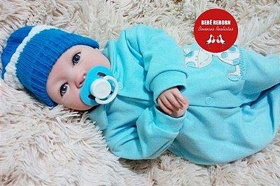Bebê Reborn Menino Bebê Quase Real Anjinho Lindo E Perfeito Com Enxoval Completo E Chupeta