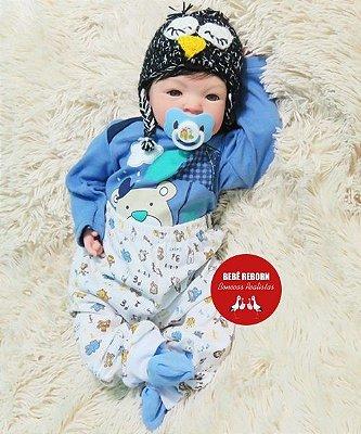 Bebê Reborn Menino Detalhes Reais Lindíssimo Parece Um Bebê De Verdade Super Promoção