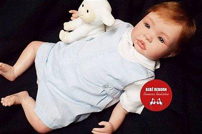 Bebê Reborn Menino Realista Lindo E Muito Fofo Parece De Verdade Acompanha Lindo Enxoval