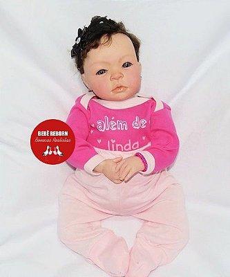 Boneca Bebê Reborn Menina Realista Parece Um Bebê De verdade 43 Cm Delicada E Encantadora