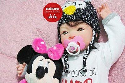 Bebê Reborn Menina Realista Boneca Encantadora E Perfeita Acompanha Lindo Enxoval E Acessórios