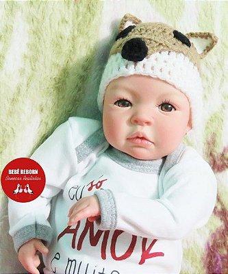 Boneca Bebê Reborn Realista Bonita E Delicada 43 Cm Acompanha Lindo Enxoval E Acessórios