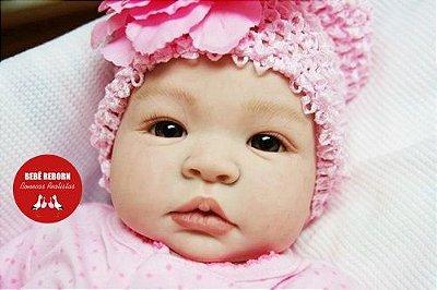 Boneca Bebê Reborn Menina Bebê Quase Real Super Fofa E Realista Com Lindo Enxoval Promoção
