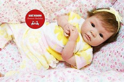 Boneca Bebê Reborn Menina Bebê Quase Real Bela E Encantadora Anjinha Perfeita Com Enxoval