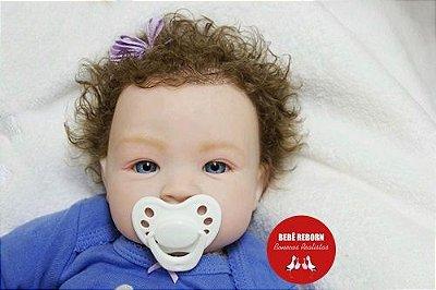 Bebê Reborn Menina Bebê Quase Real Sofisticada E Cheia De Detalhes Acompanha Enxoval E Acessórios