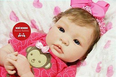 Boneca Bebê Reborn Menina Bebê Quase Real Lindíssima Com Lindo Enxoval Super Promoção