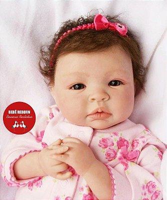 Boneca Bebê Reborn Menina Detalhes Reais Encantadora E Perfeita Acompanha Enxoval E Chupeta