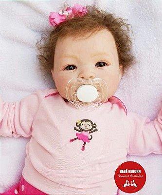 Bebê Reborn Menina Realista Bebê Quase Real Princesinha Linda Com Lindo Enxoval E Chupeta