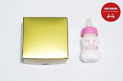 Mamadeira Rosa Com Leite Falso Para Bebê Reborn Imitação Do Leite Verdadeiro