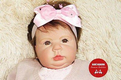 Bebê Reborn Menina Realista Membros Em Vinil Siliconado Linda Um Verdadeiro Presente Com Enxoval
