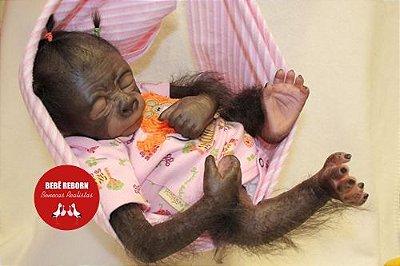 Bebê Reborn Animal Macaquinha Super Realista Um Verdadeiro Presente Com Enxoval