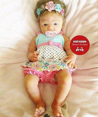 Boneca Bebê Reborn Menina Detalhes Reais Toda Em Silicone Sólido Um Verdadeiro Presente