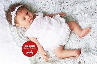 Boneca Bebê Reborn Menina Realista Toda Em Silicone Sólido Acompanha Lindo Enxoval