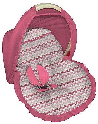Capa para bebê conforto com Capota Chevron Nara