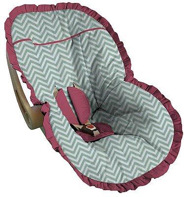 Capa para Bebê Conforto Chevron Lâmia