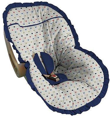 Capa para Bebê Conforto Coração Nápoles