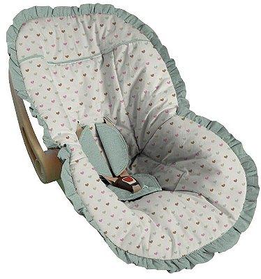 Capa para Bebê Conforto Coração Pádua