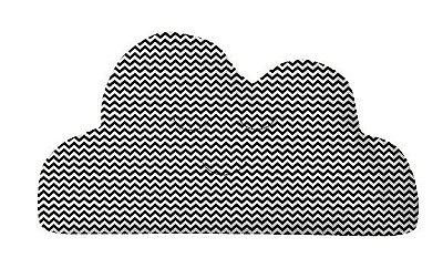 Almofada Nuvem Mini Chevron Preto