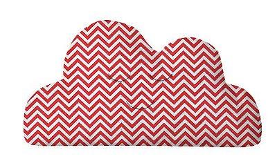 Almofada Nuvem Chevron Vermelho