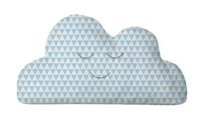 Almofada Nuvem Triangulo Azul