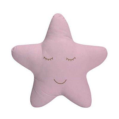 Almofada Estrela Rosa Bordada