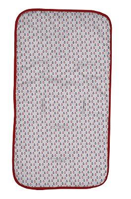 Capa para Carrinho Ancoras Coloridas Vermelha