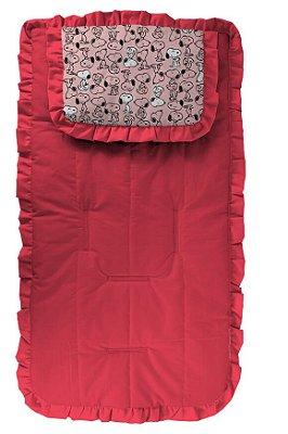 Capa para Carrinho Pink com Travesseiro Snoop Rosa