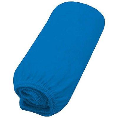 Lençol para Berço com Elástico Azul Royal
