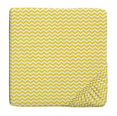 Lençol para Berço com Elástico Chevron Amarelo