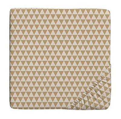 Lençol para Berço com Elástico Triangulo Bege