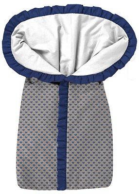 Porta Bebê Coração Azul Royal