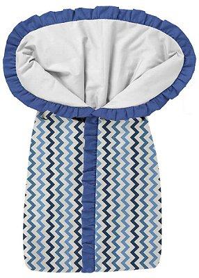 Porta Bebê Listras Coloridas Tons Azul