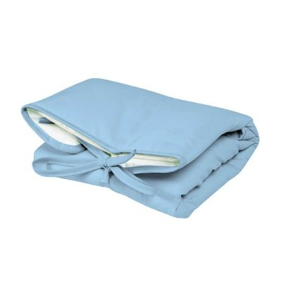 Trocador Portátil Dobrável Azul Claro para Bebê