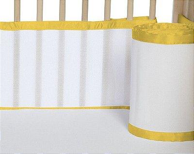 Tela para Berço de Bebê Respirável Amarelo Ovo