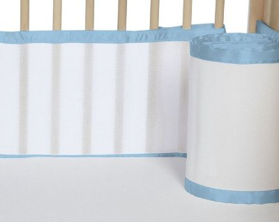 Tela para Berço de Bebê Respirável Azul Bebê
